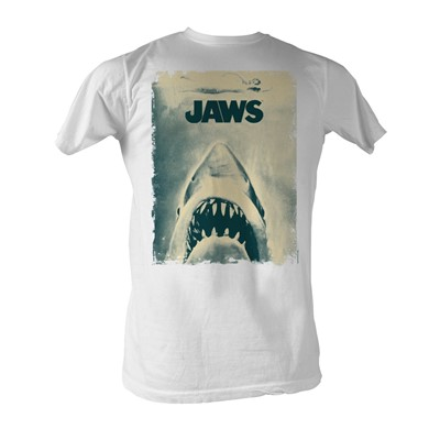 Jaws - Another Jaw Poster Mens T-Shirt In White
