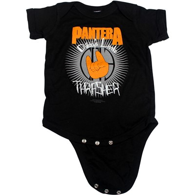 Pantera - Daddy's Lil Thrasher Romper Babywear In Black