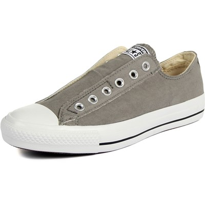 Converse Chuck Taylor All-Star Charcoal/Orange Slip-on Shoes (1X841)