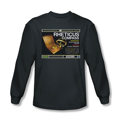 Warehouse 13 - Mens Rheticus Compass Long Sleeve Shirt In Charcoal