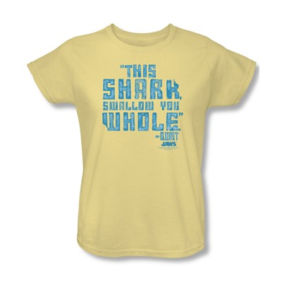 Jaws - Womens Swallow You Whole T-Shirt In Banana