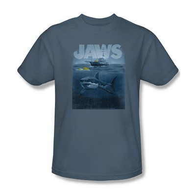 Jaws - Mens Silhouette T-Shirt In Slate