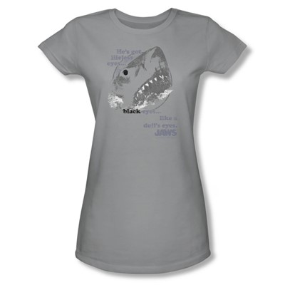 Jaws - Womens Like Doll'S Eyes T-Shirt In Silver