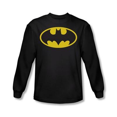 Batman - Classic Logo Adult L/S T-Shirt In Black