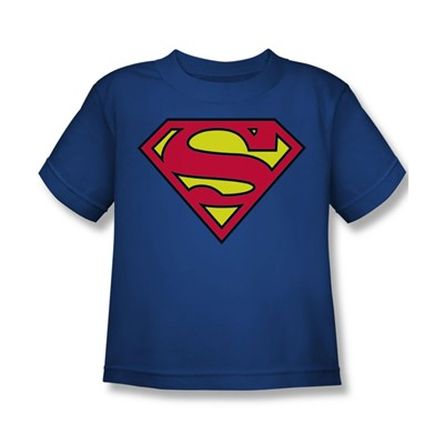 Superman - Classic Logo Little Boys T-Shirt In Royal Blue