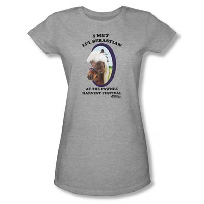 Parks & Recreation - Lil' Sebastian Juniors T-Shirt In Heather
