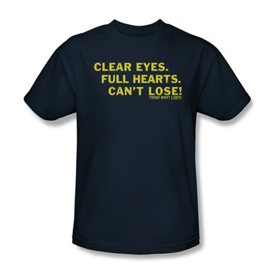 Friday Night Lights - Clear Eyes Adult T-Shirt In Navy