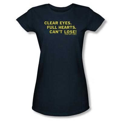 Friday Night Lights - Clear Eyes Juniors T-Shirt In Navy