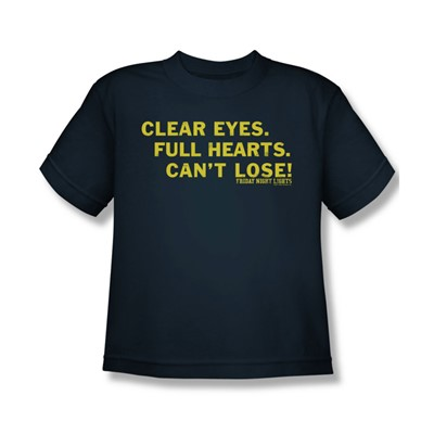 Friday Night Lights - Clear Eyes Big Boys T-Shirt In Navy