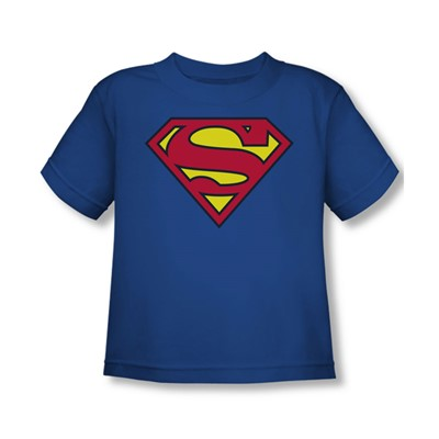 Superman - Classic Superman Logo Toddler T-Shirt In Royal
