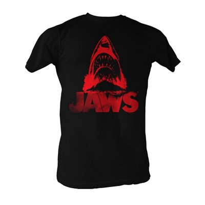 Jaws - Red J Mens T-Shirt In Black