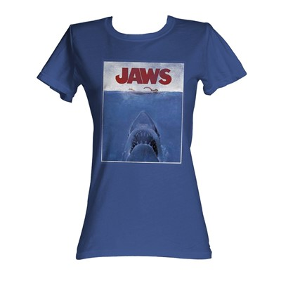 Jaws - Movie Poster Womens T-Shirt In Royal