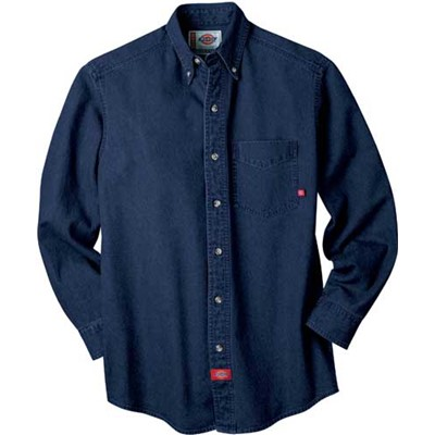 Dickies - WL300 Long-Sleeve Denim Work Shirt
