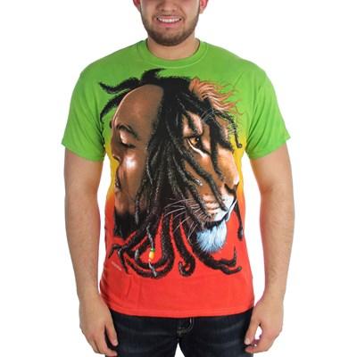 Bob Marley - Profiles Dye Adult T-Shirt in Tie Dye