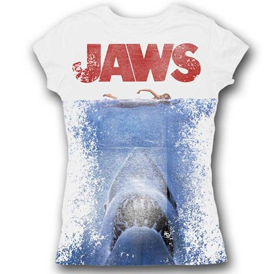 Jaws -  In Japan Sublimation Womens T-Shirt In White