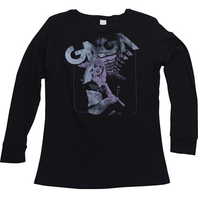 Lady Gaga - Power To The Monster Womens Thermal In Black