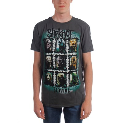 Slipknot - Mens Color Grid T-shirt in Charcoal