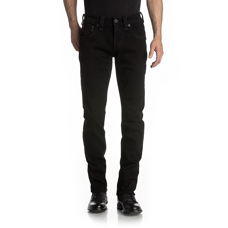 Mens Arther A200 Straight Jeans with Fake Flaps Rock Revival