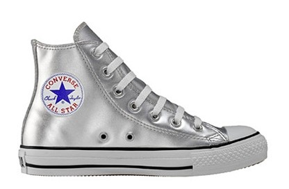5452999156c Converse Chuck Taylor All Star Shoes (1V198) Hi Top in Silver Metallic