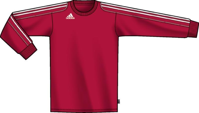 Adidas - Squad Ii Jsy L Mens Longsleeve Shirt In Red,White