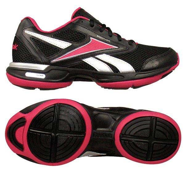 044cd6b0153 Reebok. Reebok - Simplytone Walk Womens Shoes In Black Silver Overtly Pink