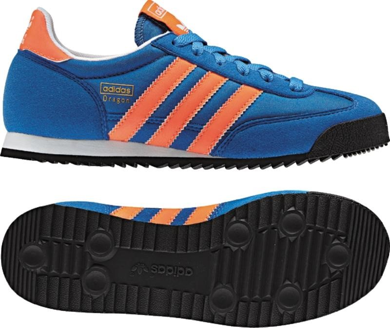8aa237410cbc84 Adidas - Dragon Lace J Kids Shoes In Air Force Blue Warning White