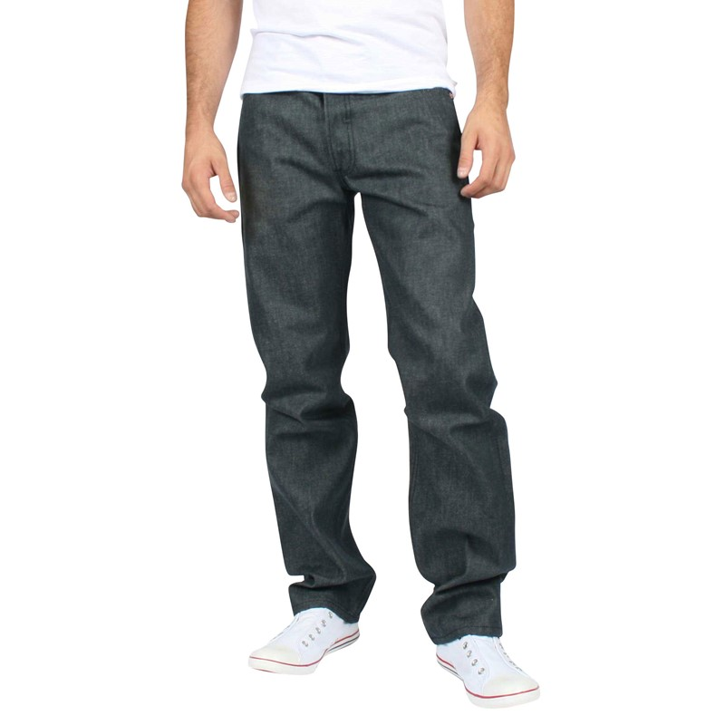 e4776772a6e2 Levis - Mens 501 Button Fly Dark Grey Shrink to Fit Denim Jeans