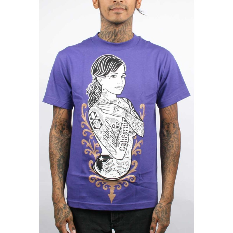 Famous Purple Logos Famous Stars And Straps x Rebel8 She 39 s Famous Mens t Shirt in Purple