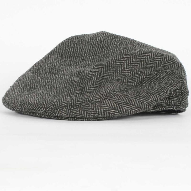 d62ce037100e8 Hooligan Hat in Gray Black Herringbone by Brixton