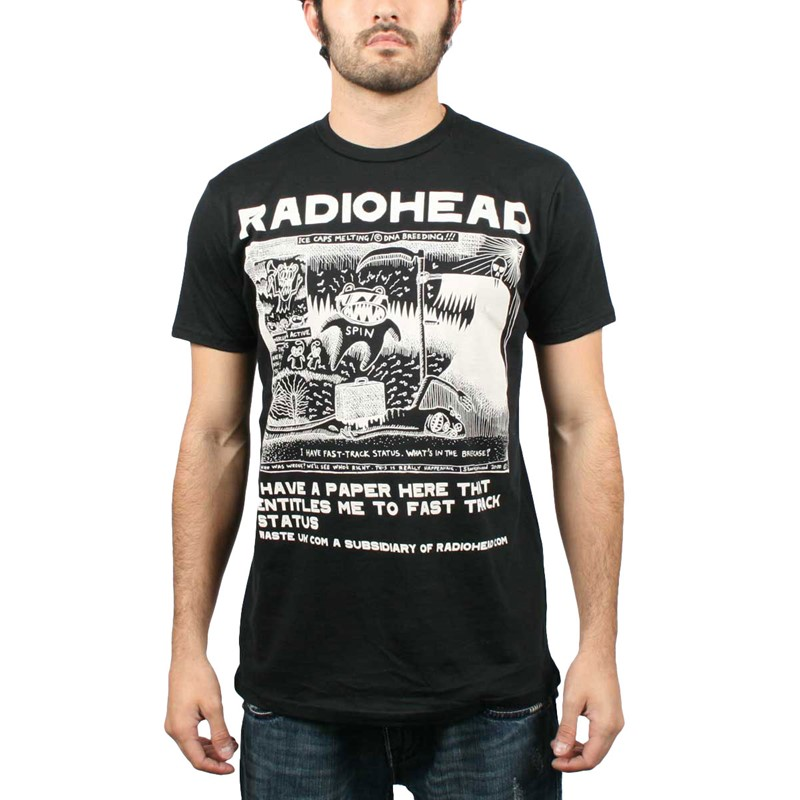 5959810c Radiohead - Ice Caps Mens T-Shirt In Vintage Black