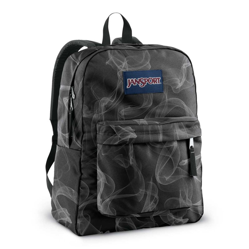 Jansport - Superbreak Backpack In Black/White Smoke Screen