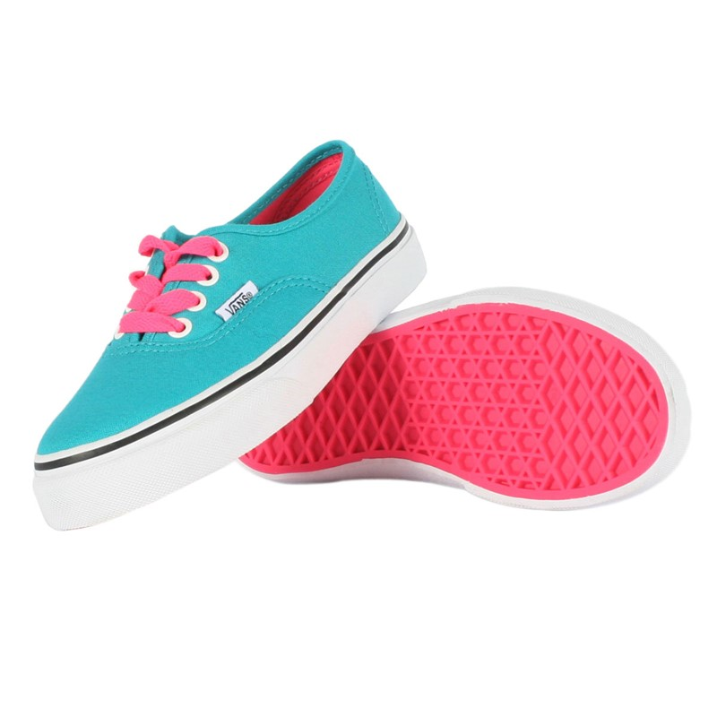 afab177b94 Vans - Youth K Authentic Shoes In Pop Lace Blue Bird
