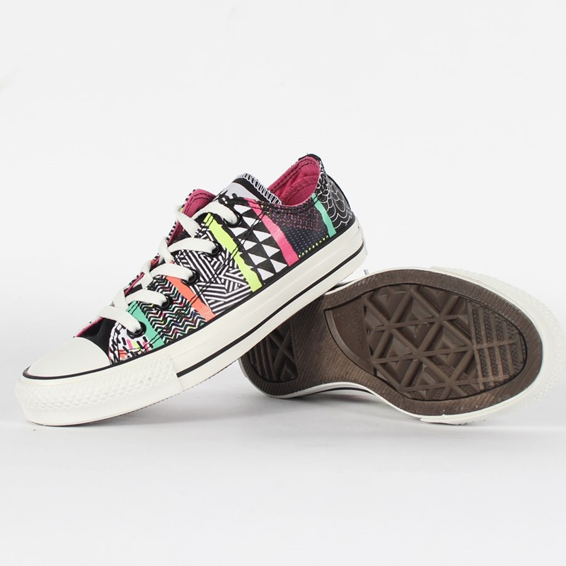 f0aaf78347ca37 Converse. Converse - Chuck Taylor All Star Hyperculture Print Ox Canvas  Shoes in White Multi