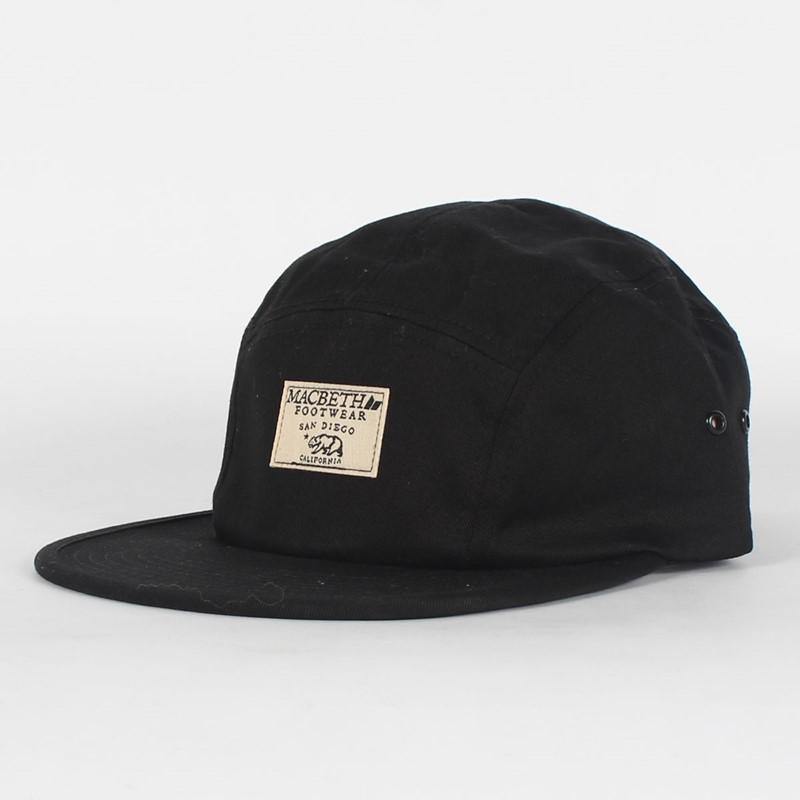 0ababa964 Macbeth - Bear 5 Panel Hat in Black