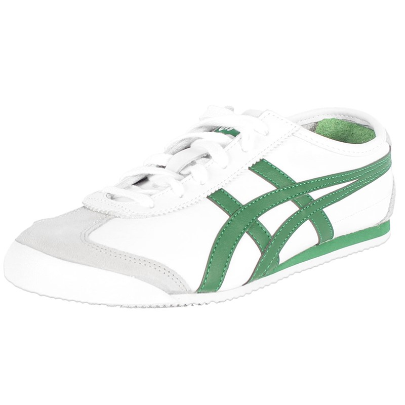 wholesale dealer c567d 2754d Asics - Mens Onitsuka Tiger Mexico 66 Shoes In White/Emerald Green