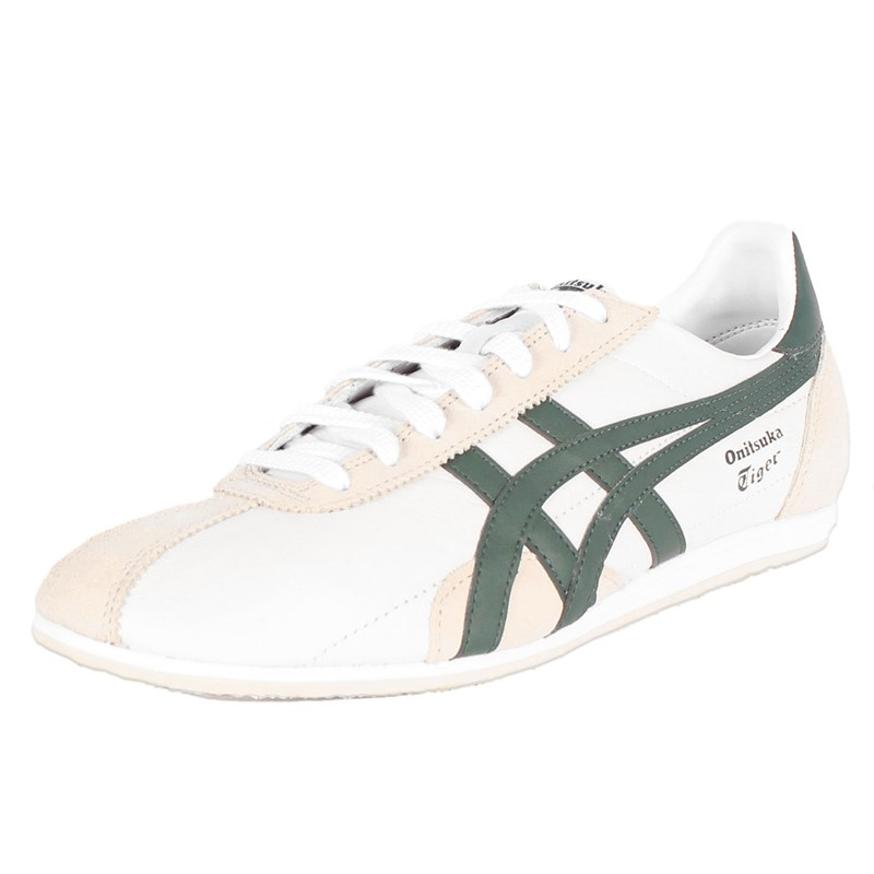 save off 72300 765db Asics - Mens Onitsuka Tiger Runspark Shoes In White/Dark Green