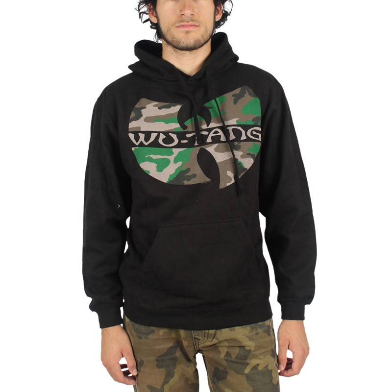 wu tang clan mens camo logo pullover hoodie. Black Bedroom Furniture Sets. Home Design Ideas
