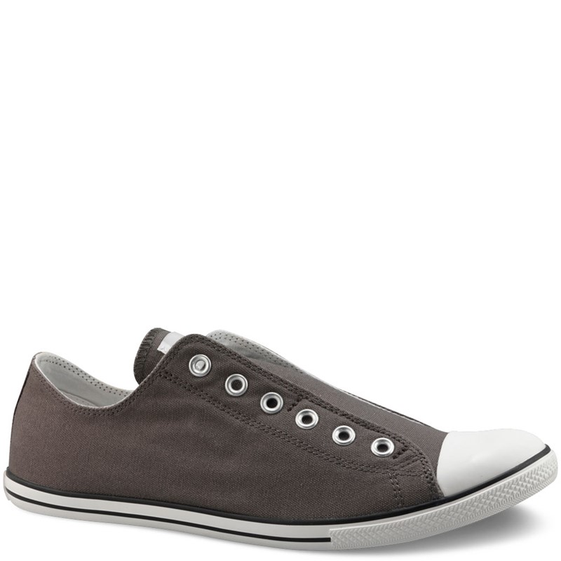 8fbbf721d1f Converse. Converse Chuck Taylor Slim Slip Low Top Shoes in Charcoal ...