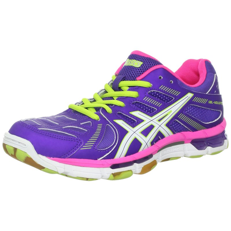 a5bef388cd5b3 Asics - Womens Volleyball Gel-Volleycross Revolution Shoes In  Grape/White/Hot Pink