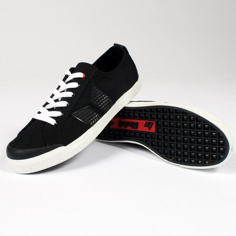 Macbeth Eliot Vegan Shoes Eliot Mens Vegan Shoes in Black White Studded Belt by Macbeth Footwear