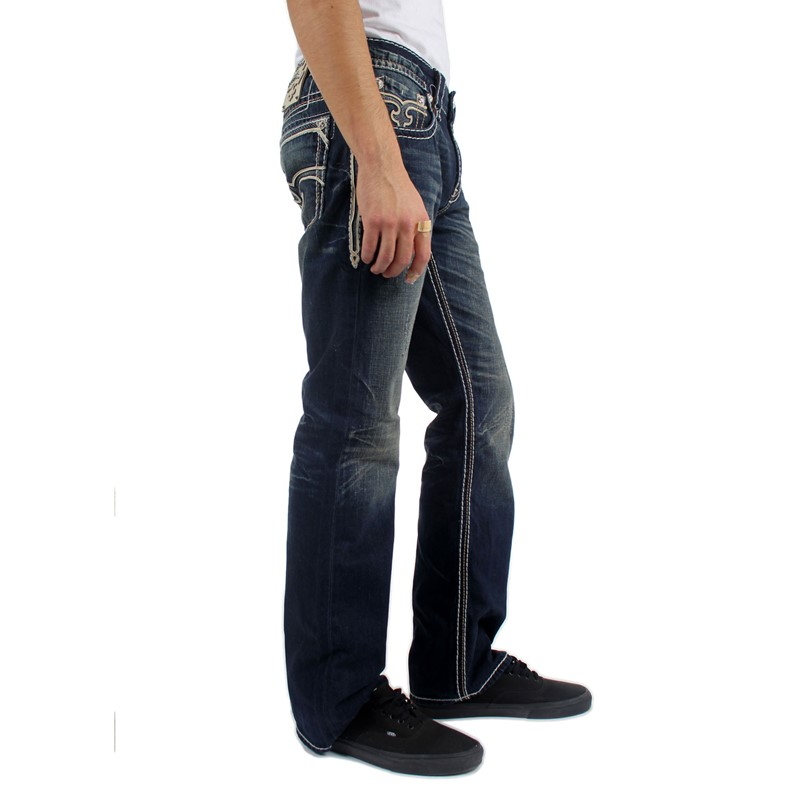 d2fc42bd562 The Dan boot cut jean is perfect if you re looking for a medium colored  wash. These jeans are great because they have a nice dark blue wash