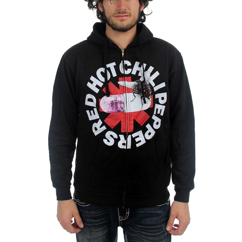 9eb8caf285499 Red Hot Chili Peppers - Mens With You Hooded Sweater In Black