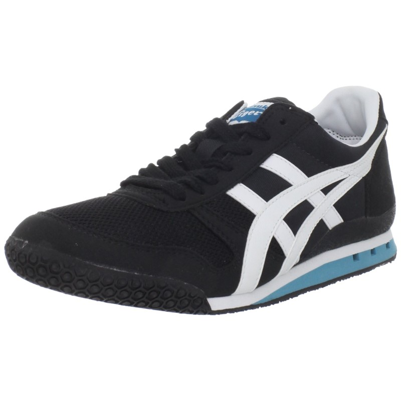 Onitsuka Tiger: Asics Womens Ultimate 81 Vegan Shoes in BlackWhiteTeal