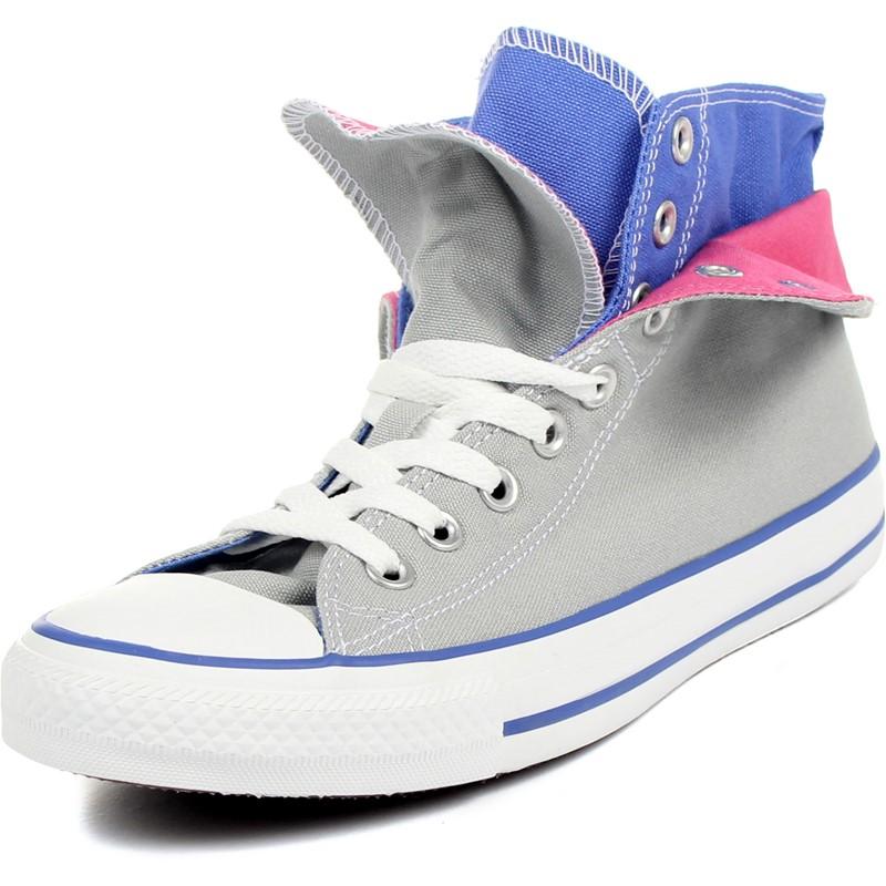 cd815d7e4966ce Converse. Converse - Chuck Taylor All Star Two Fold Seasonal Plus Hi Canvas  Shoes in Mirage Gray B. Blue
