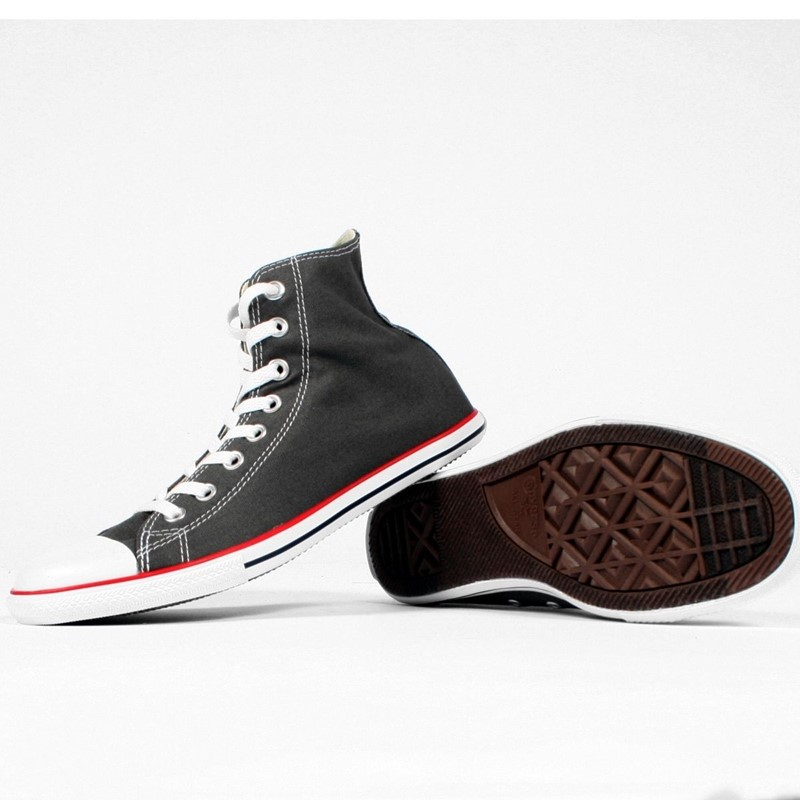 05e39f4b5f2 Converse. Converse Chuck Taylor Charcoal Slim Hi Top Shoes ...