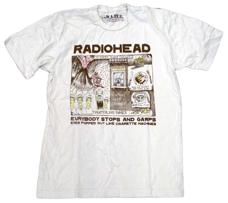 86910fa4 Color in Drawing T-Shirt by Radiohead