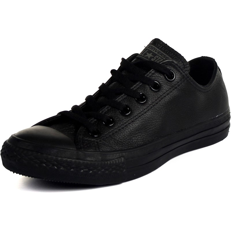 cb4420f0e1fae5 Converse Leather Chuck Taylor All Star Shoes (1T865) Low Top in Black  Monochrome