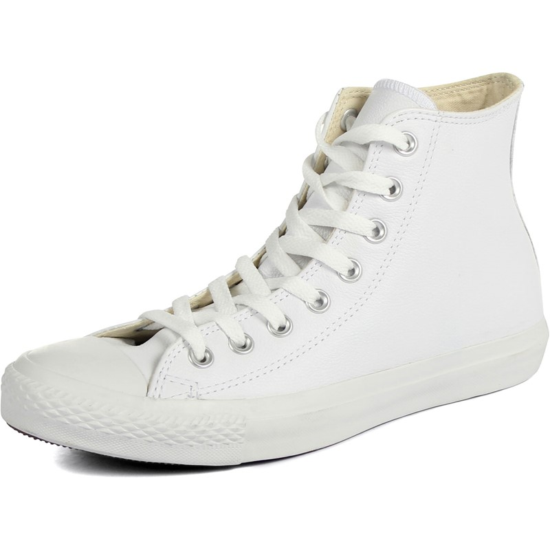 Converse Chuck Taylor All Star Shoes (1T406) Leather Hi White Monochrome