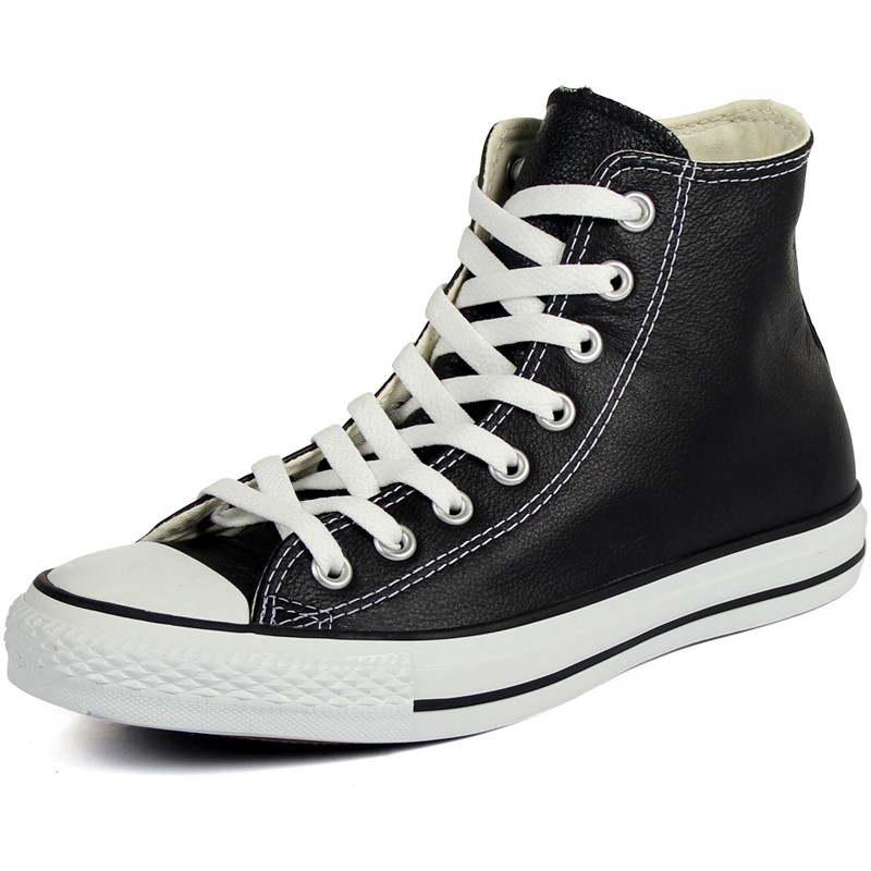 771a4de6fdf8 Converse Chuck Taylor All Star Shoes (1S581) Hi Black Leather