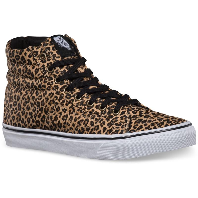 fec9893fc9 Vans. Vans - Unisex Sk8-Hi Slim Shoes in Leopard Herringbone